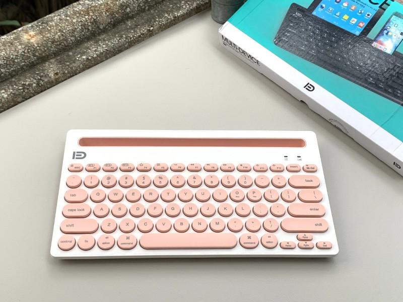 Bàn phím Bluetooth IK3381 - Hồng